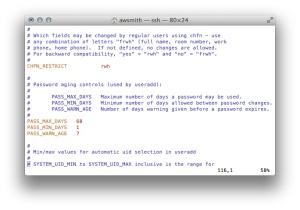 Example Properties From /etc/login.defs