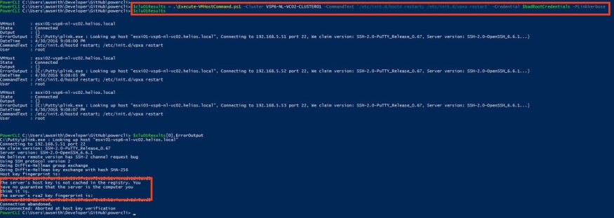 "ESXi Host SSH Key Not Trusted, plink.exe Does Not Connect Without ""Auto Accept Key"" Switch"